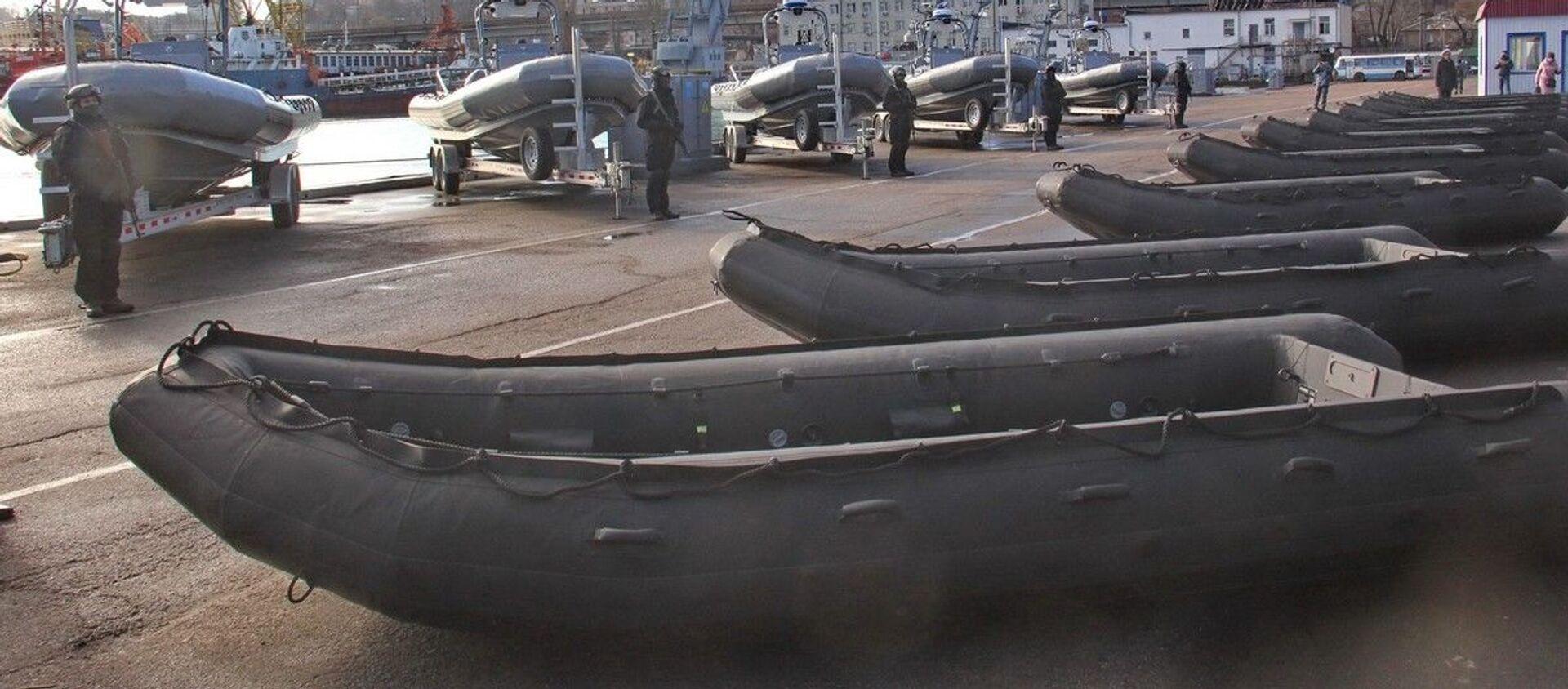 Thuyền bơm hơi do Hoa Kỳ tặng cho Hải quân Ukraine. - Sputnik Việt Nam, 1920, 12.02.2021