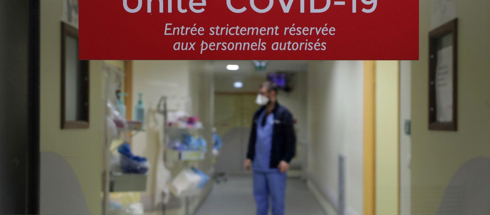 Nhân viên y tế trong Đơn vị chăm sóc đặc biệt cho bệnh nhân COVID-19 ở Pháp - Sputnik Việt Nam, 1920, 18.02.2021