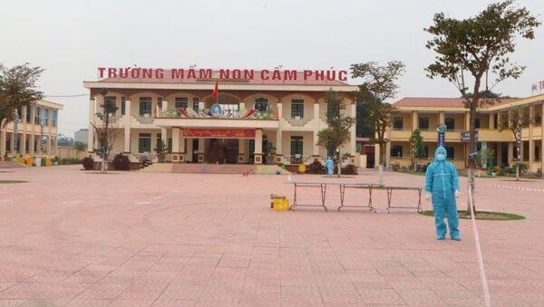 Khu cách ly tập trung Trường Mầm non Cẩm Phúc (huyện Cẩm Giàng). - Sputnik Việt Nam