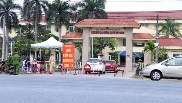 Cơ quan chức năng phong tỏa Bệnh viện Giao thông vận tải Hải Phòng, nơi bệnh nhân làm việc - Sputnik Việt Nam