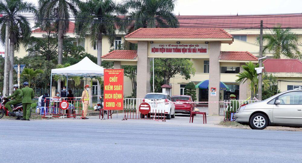 Cơ quan chức năng phong tỏa Bệnh viện Giao thông vận tải Hải Phòng, nơi bệnh nhân làm việc