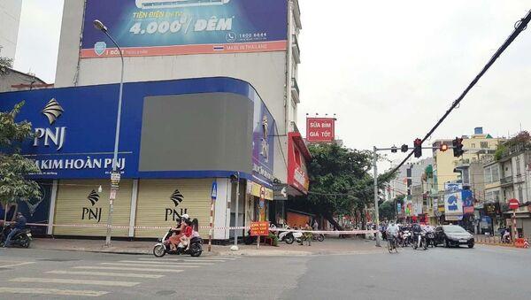 Trung tâm kim hoàn PNJ trên đường Trần Nguyên Hãn, quận Lê Chân, nơi bệnh nhân có tiếp xúc - Sputnik Việt Nam