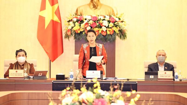 Chủ tịch Quốc hội Nguyễn Thị Kim Ngân chủ trì và phát biểu khai mạc - Sputnik Việt Nam
