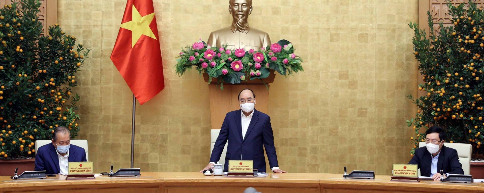 Thường trực Chính phủ họp trực tuyến với các bộ, ngành và địa phương về phòng, chống COVID - 19 - Sputnik Việt Nam, 1920, 24.02.2021