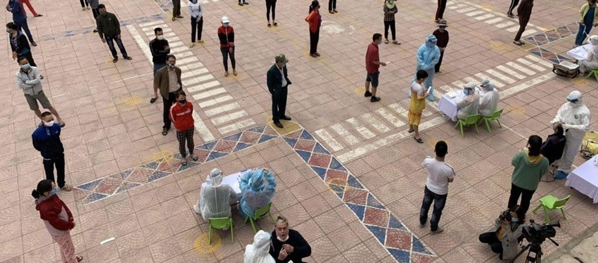 Ngày 24/2, phường Tứ Minh, thành phố Hải Dương, dự kiến sẽ lấy khoảng trên 800 mẫu xét nghiệm.  - Sputnik Việt Nam, 1920, 16.03.2021
