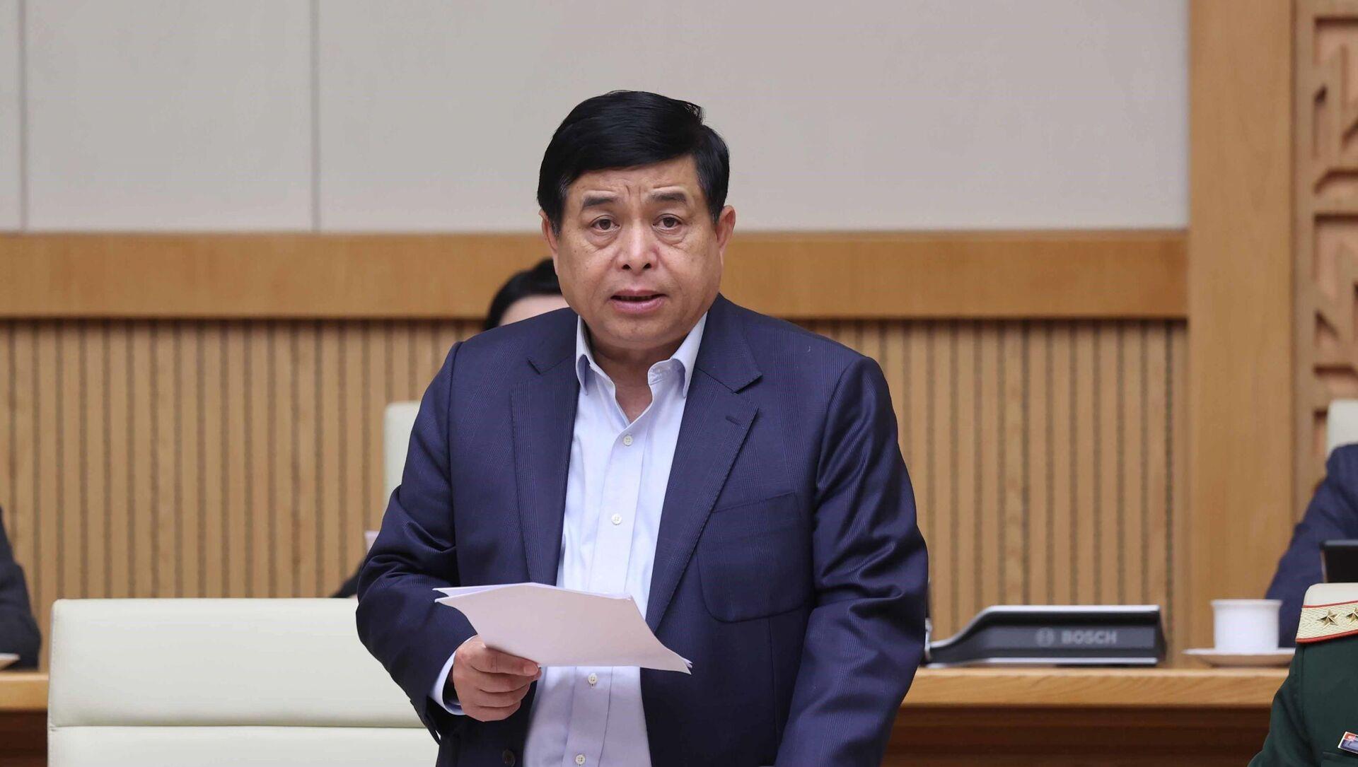 Bộ trưởng Bộ Kế hoạch và Đầu tư Nguyễn Chí Dũng phát biểu tại phiên họp. - Sputnik Việt Nam, 1920, 01.03.2021