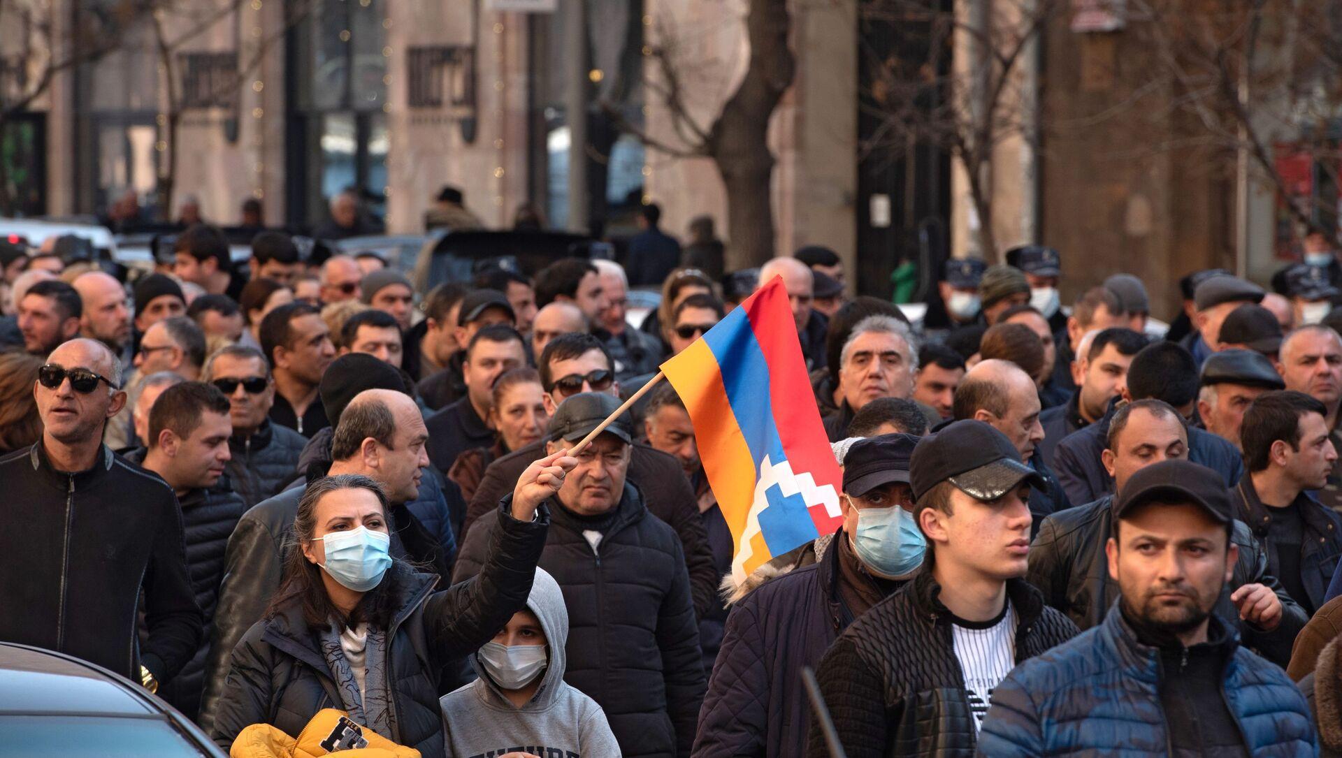 Cuộc biểu tình của phe đối lập ở Yerevan, Armenia  - Sputnik Việt Nam, 1920, 01.03.2021