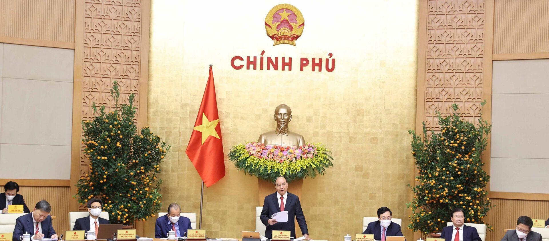 Thủ tướng Nguyễn Xuân Phúc chủ trì phiên họp Chính phủ thường kỳ tháng 2/2021 - Sputnik Việt Nam, 1920, 02.03.2021