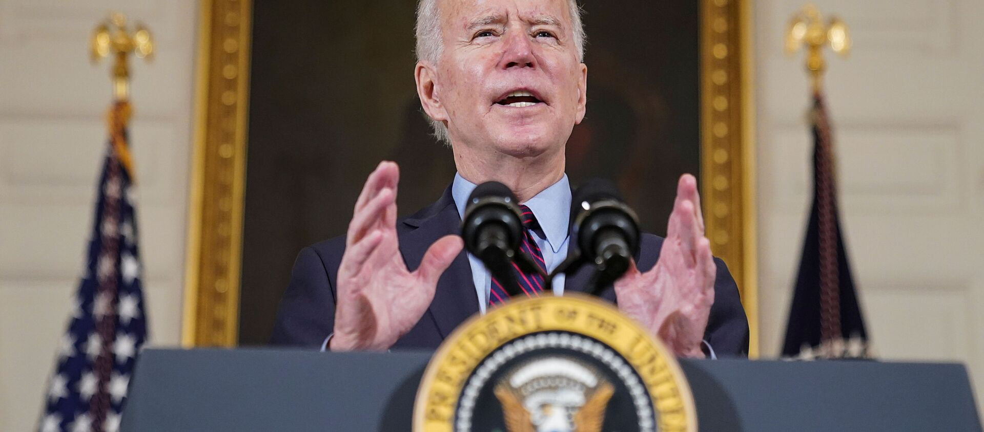 Tổng thống Hoa Kỳ Joe Biden tại Nhà Trắng, Washington. - Sputnik Việt Nam, 1920, 12.03.2021