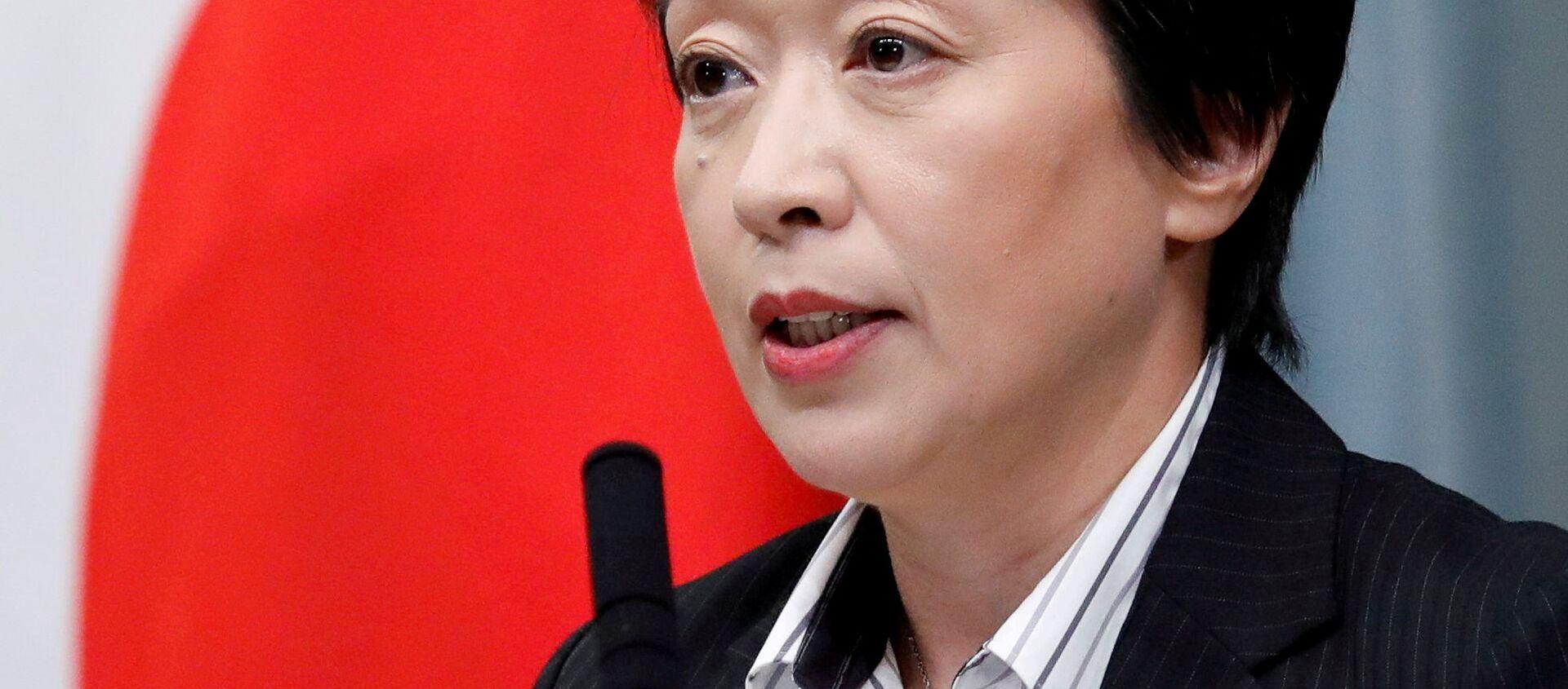 Trưởng ban tổ chức Thế vận hội Olympic 2020 Seiko Hashimoto trong cuộc họp báo ở Tokyo. - Sputnik Việt Nam, 1920, 03.03.2021