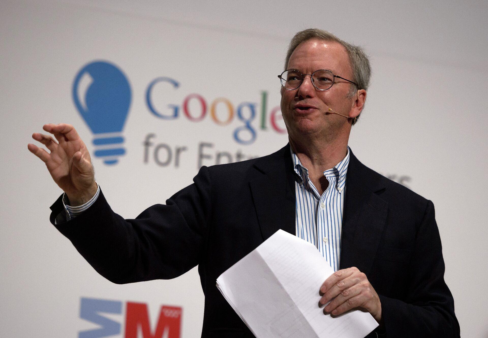 Cựu giám đốc Google, người đứng đầu Ủy ban An ninh về Trí tuệ Nhân tạo Eric Schmidt - Sputnik Việt Nam, 1920, 05.10.2021