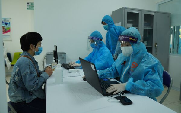 Các bệnh nhân cần đăng ký trước khi tiêm - Sputnik Việt Nam