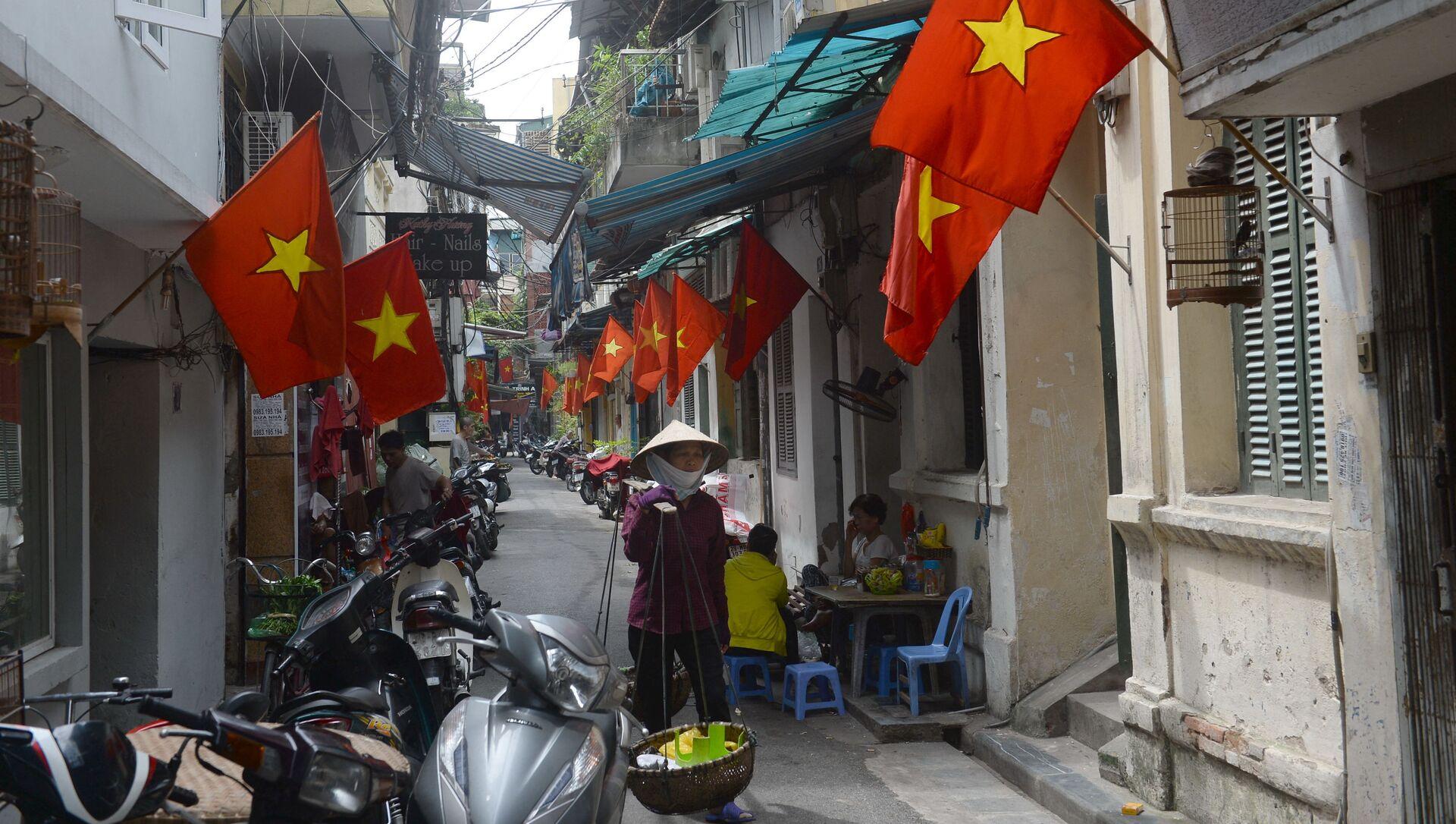 Ở trung tâm Hà Nội. - Sputnik Việt Nam, 1920, 09.03.2021