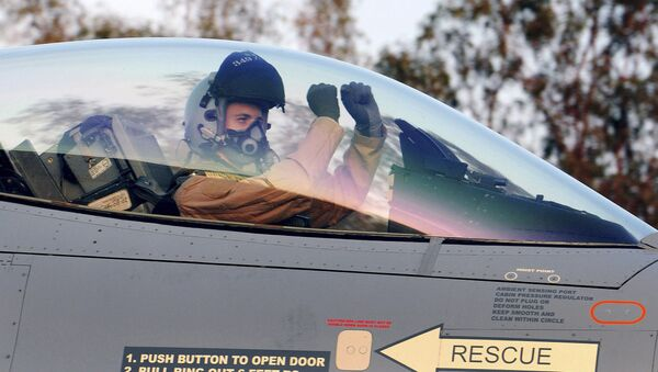 Chiến đấu cơ F-16 của Không quân Bỉ. - Sputnik Việt Nam