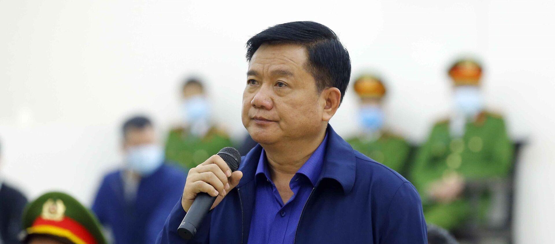 Bị cáo Đinh La Thăng khai báo trước Hội đồng xét xử. - Sputnik Việt Nam, 1920, 12.03.2021