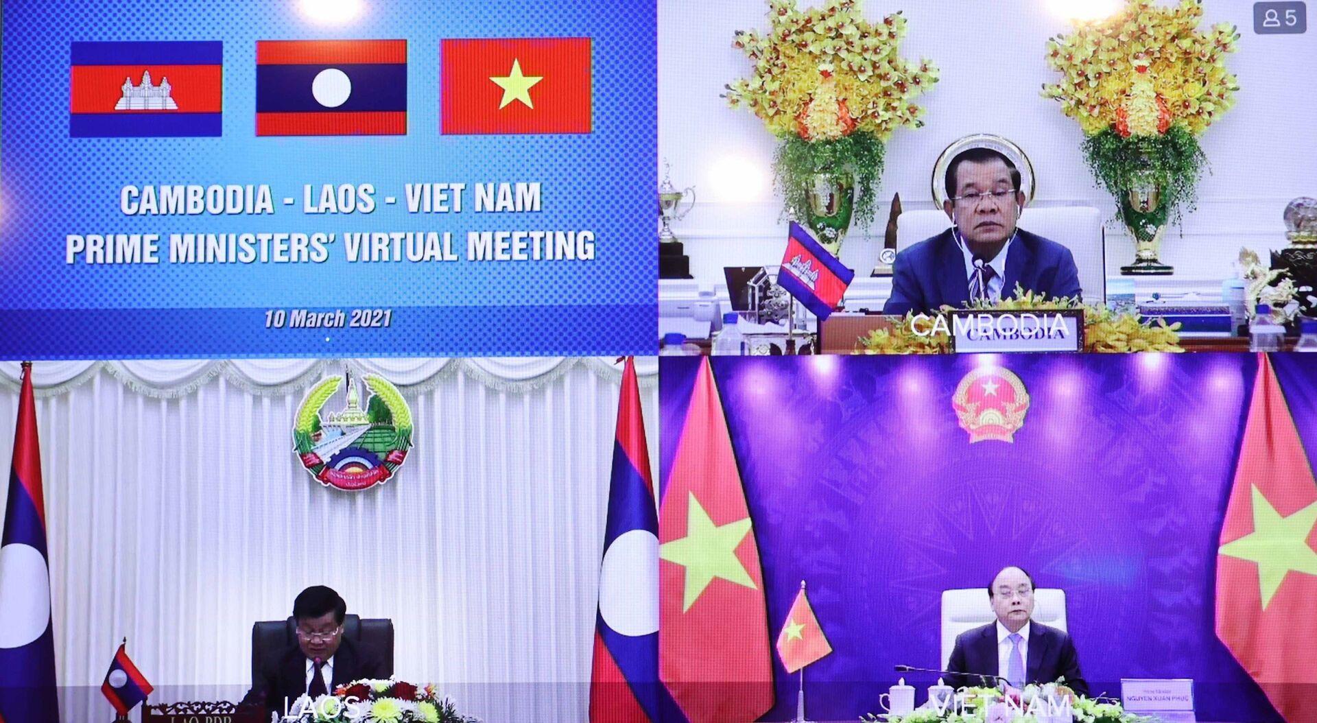 Ba nước 'anh em' Việt Nam – Lào – Campuchia bàn tình hình Myanmar và Biển Đông - Sputnik Việt Nam, 1920, 10.03.2021