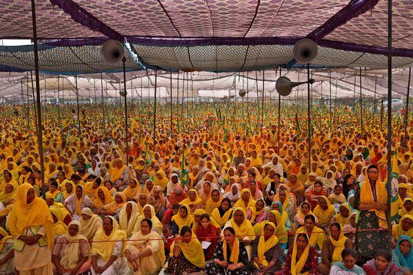 Các phụ nữ nông dân trong cuộc biểu tình ở Ấn Độ - Sputnik Việt Nam