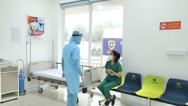 Phòng theo dõi sau khi tiêm vaccine phòng COVID-19 tại Bệnh viện Bệnh Nhiệt đới TƯ. - Sputnik Việt Nam