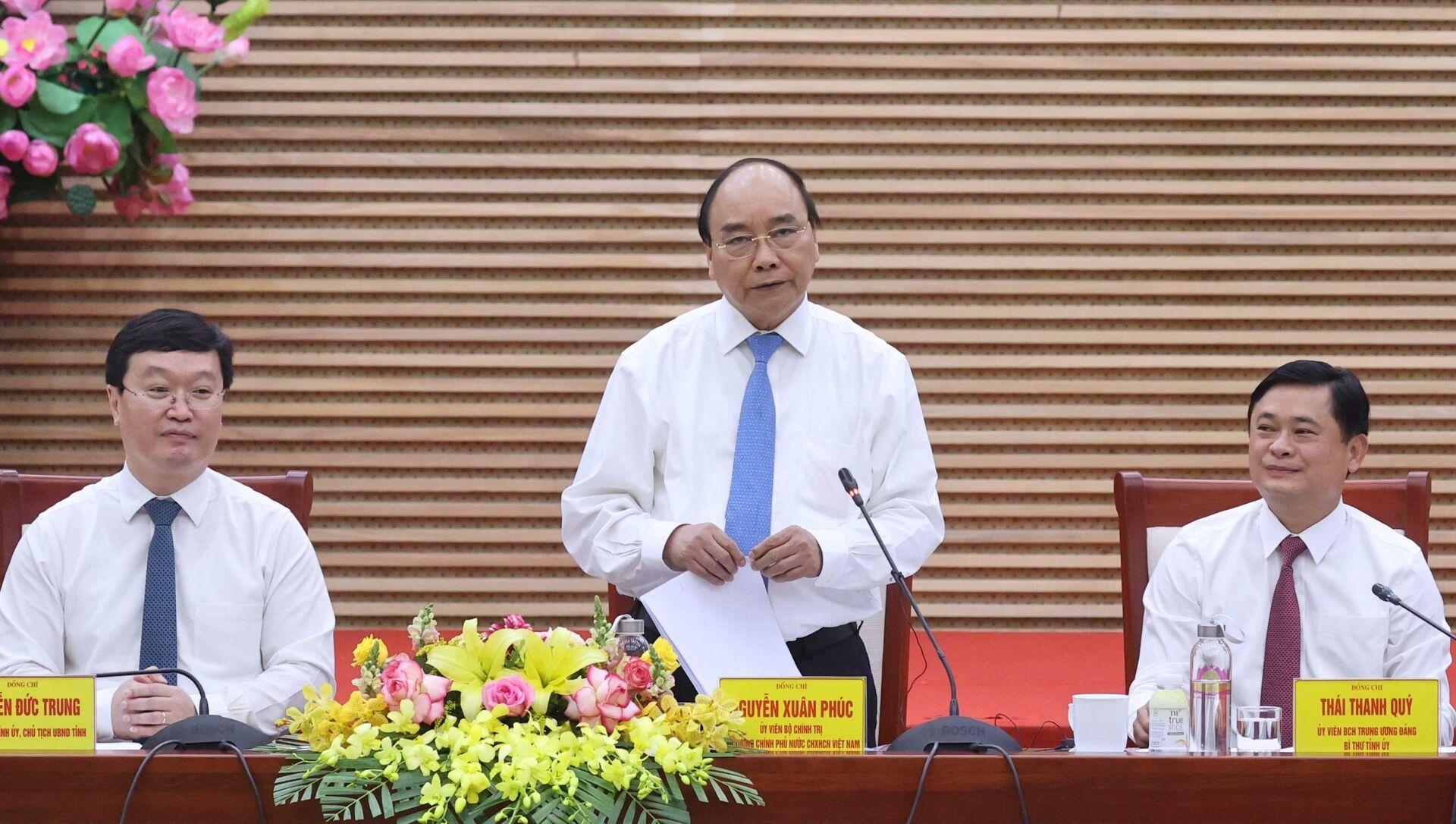 Thủ tướng Nguyễn Xuân Phúc phát biểu kết luận buổi làm việc - Sputnik Việt Nam, 1920, 14.03.2021