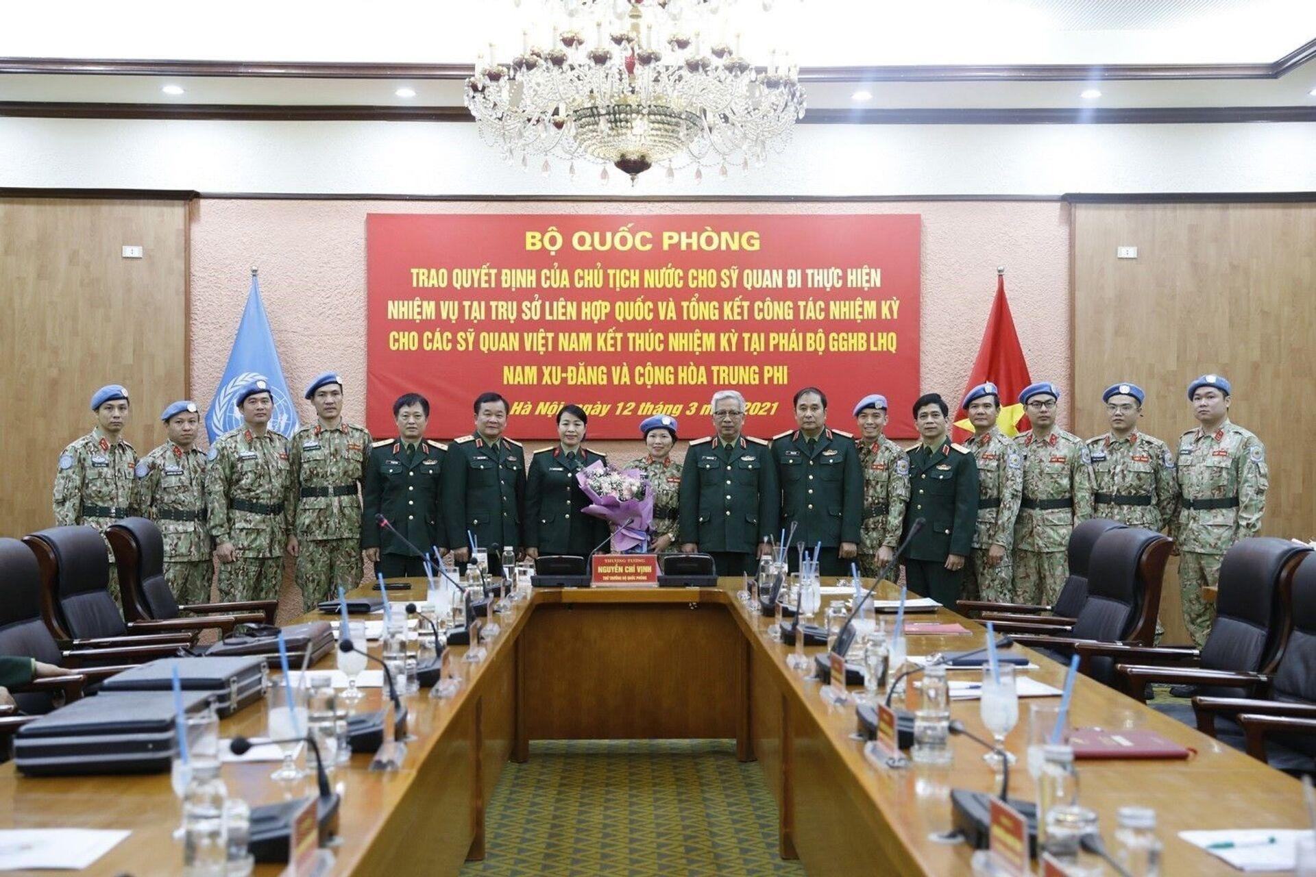 Tướng Vịnh nêu lý do vì sao Việt Nam tiến cử sĩ quan đi làm việc ở LHQ - Sputnik Việt Nam, 1920, 15.03.2021