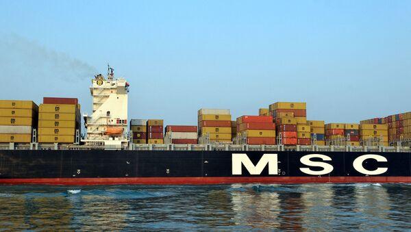 Tàu container MSC. - Sputnik Việt Nam