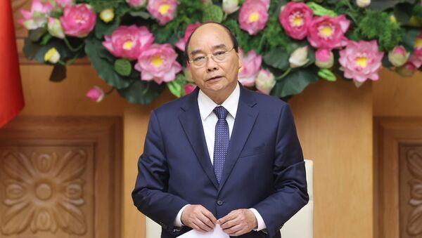 Thủ tướng Nguyễn Xuân Phúc phát biểu tại buổi tiếp đoàn đại biểu Hội Phát triển hợp tác kinh tế Việt Nam - ASEAN (VASEAN). - Sputnik Việt Nam