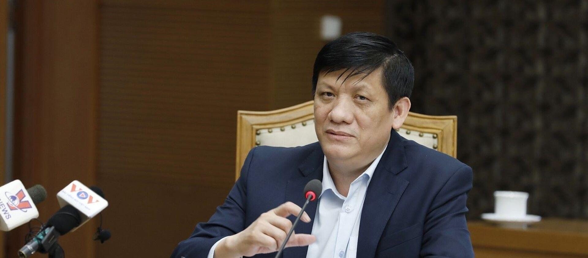 Bộ trưởng Bộ Y Tế Nguyễn Thanh Long phát biểu tại cuộc họp. - Sputnik Việt Nam, 1920, 26.03.2021