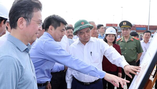 Thủ tướng Nguyễn Xuân Phúc thăm Bến cảng quốc tế Cái Mép - Sputnik Việt Nam