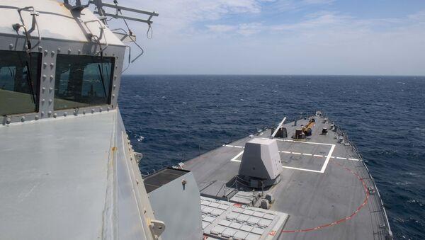 Tàu khu trục USS Thomas Hudner (DDG 116) của Mỹ băng qua Đại Tây Dương - Sputnik Việt Nam