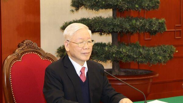 Tổng Bí thư, Chủ tịch nước Nguyễn Phú Trọng điện đàm với Thủ tướng Nhật Bản Suga Yoshihide. - Sputnik Việt Nam