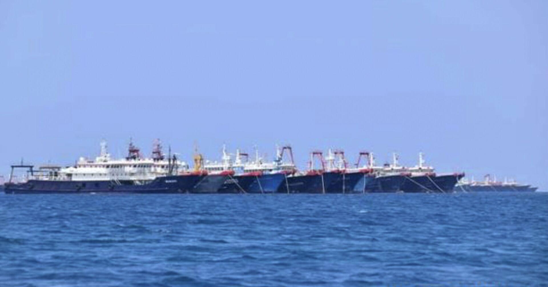 Trung Quốc phủ nhận cáo buộc về cuộc xâm nhập của 200 tàu vào lãnh hải Philippines  - Sputnik Việt Nam, 1920, 22.03.2021