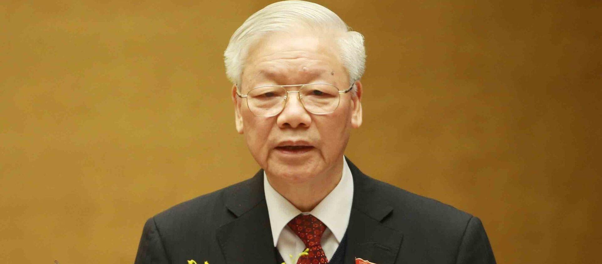 Tổng Bí thư, Chủ tịch nước Nguyễn Phú Trọng trình bày Báo cáo tổng kết nhiệm kỳ 2016 - 2021 của Chủ tịch nước. - Sputnik Việt Nam, 1920, 24.03.2021