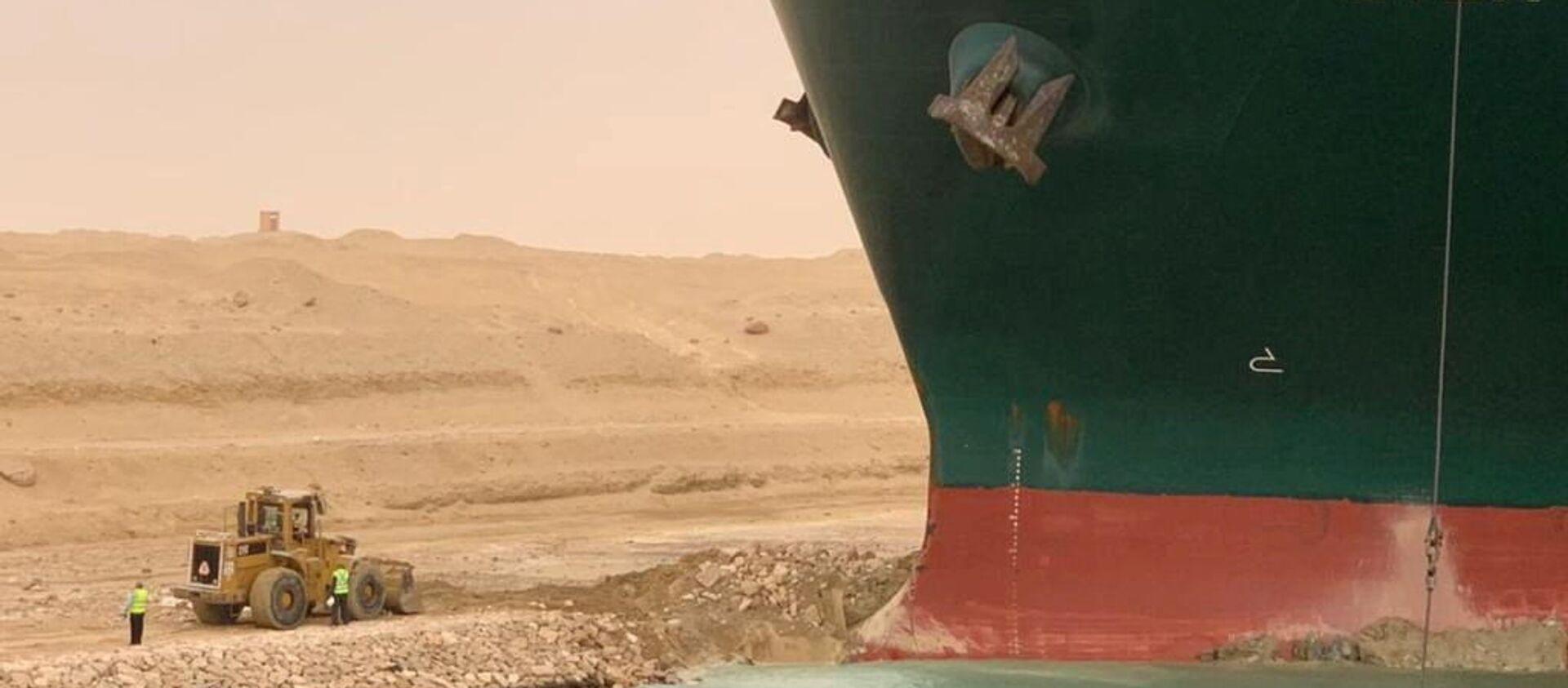 Tàu container Ever Given mắc cạn ở kênh đào Suez - Sputnik Việt Nam, 1920, 25.03.2021