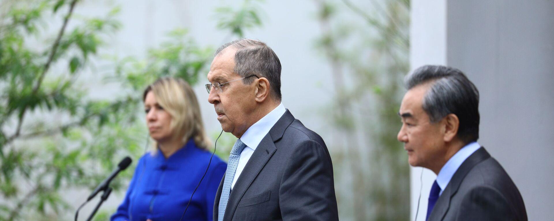 Chuyến thăm của Bộ trưởng Ngoại giao Nga S. Lavrov tới Trung Quốc - Sputnik Việt Nam, 1920, 25.03.2021