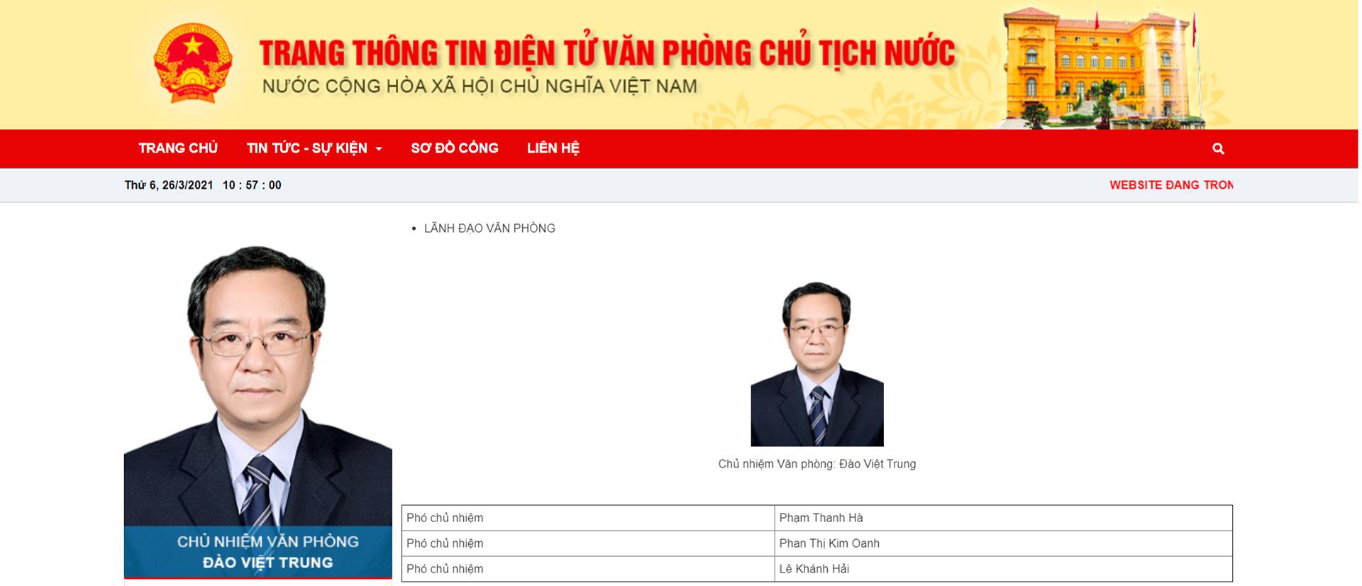 Đồng chí Nguyễn Phú Trọng bổ nhiệm ông Lê Khánh Hải làm Chủ nhiệm Văn phòng Chủ tịch nước - Sputnik Việt Nam, 1920, 26.03.2021