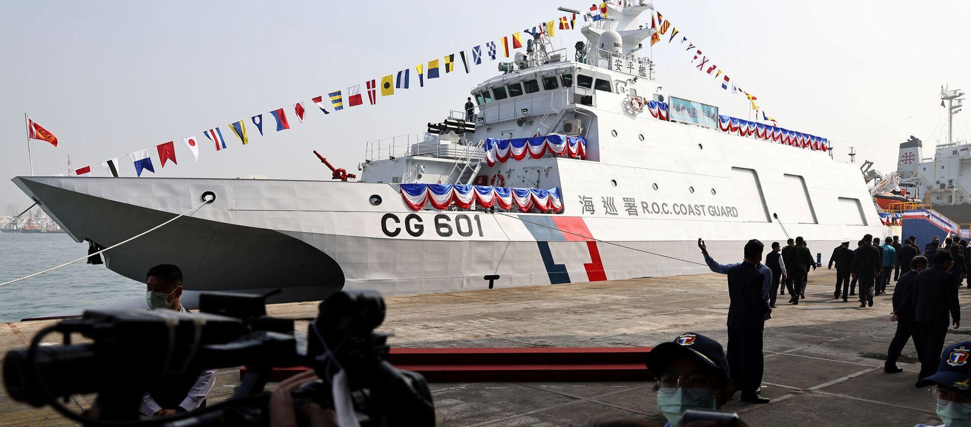 Tàu tuần tra biển Anping trong lễ hạ thủy, đưa vào vận hành tại Cao Hạm, Đài Loan. - Sputnik Việt Nam, 1920, 27.03.2021