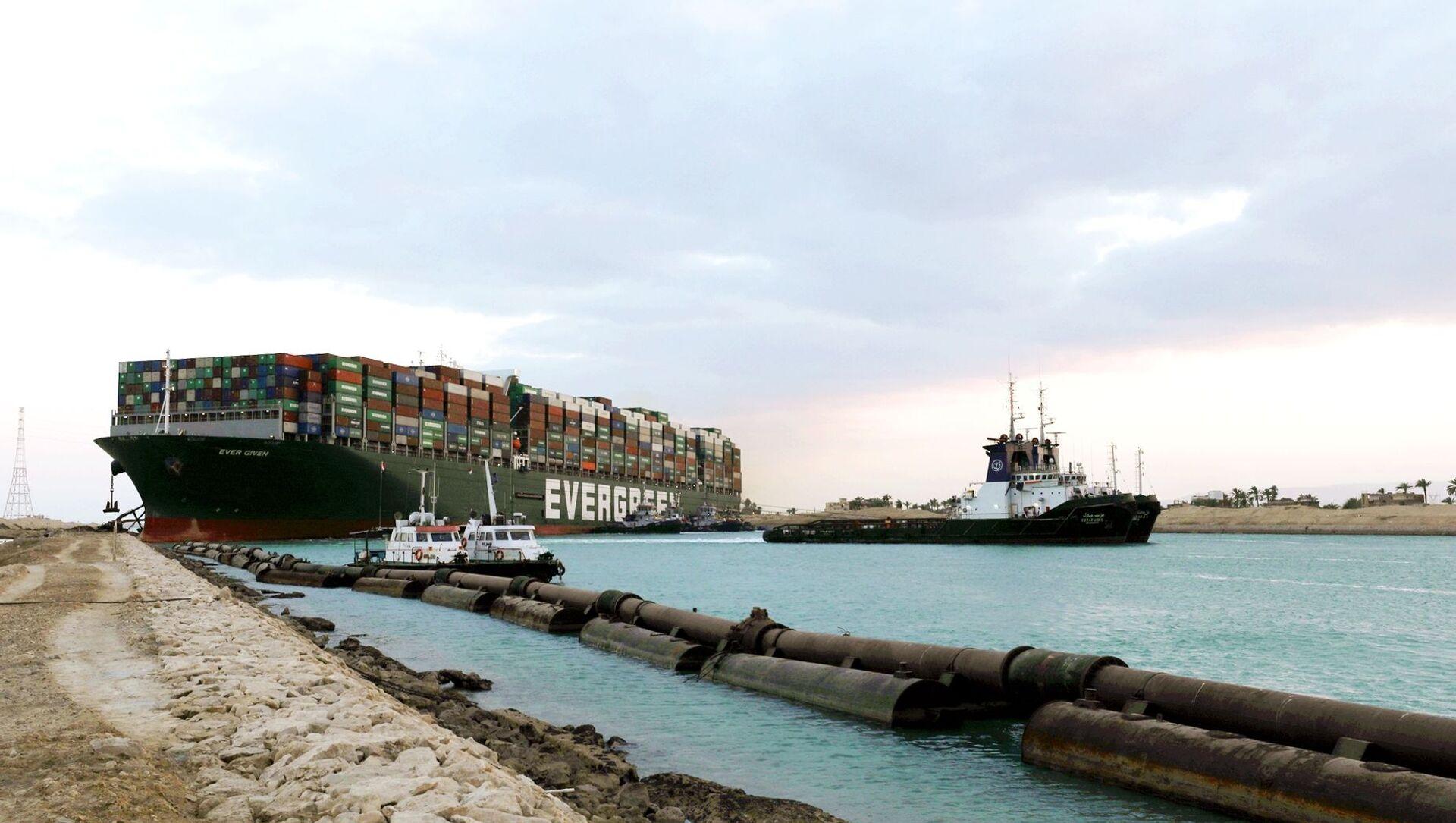 Tàu container Ever Given mắc cạn ở kênh đào Suez - Sputnik Việt Nam, 1920, 01.04.2021