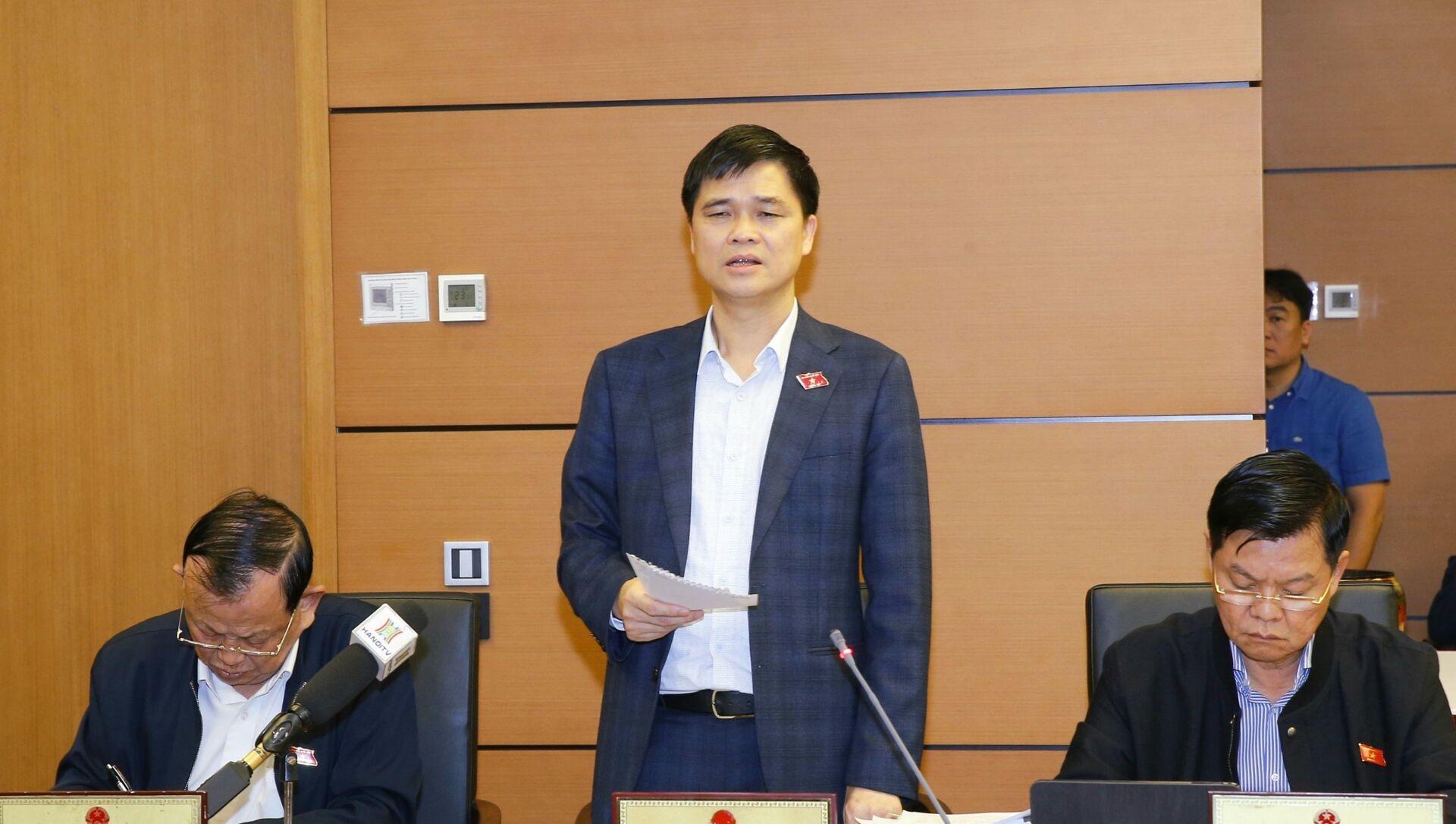 Đại biểu Quốc hội thành phố Hà Nội Ngọ Duy Hiểu phát biểu ý kiển - Sputnik Việt Nam, 1920, 30.03.2021