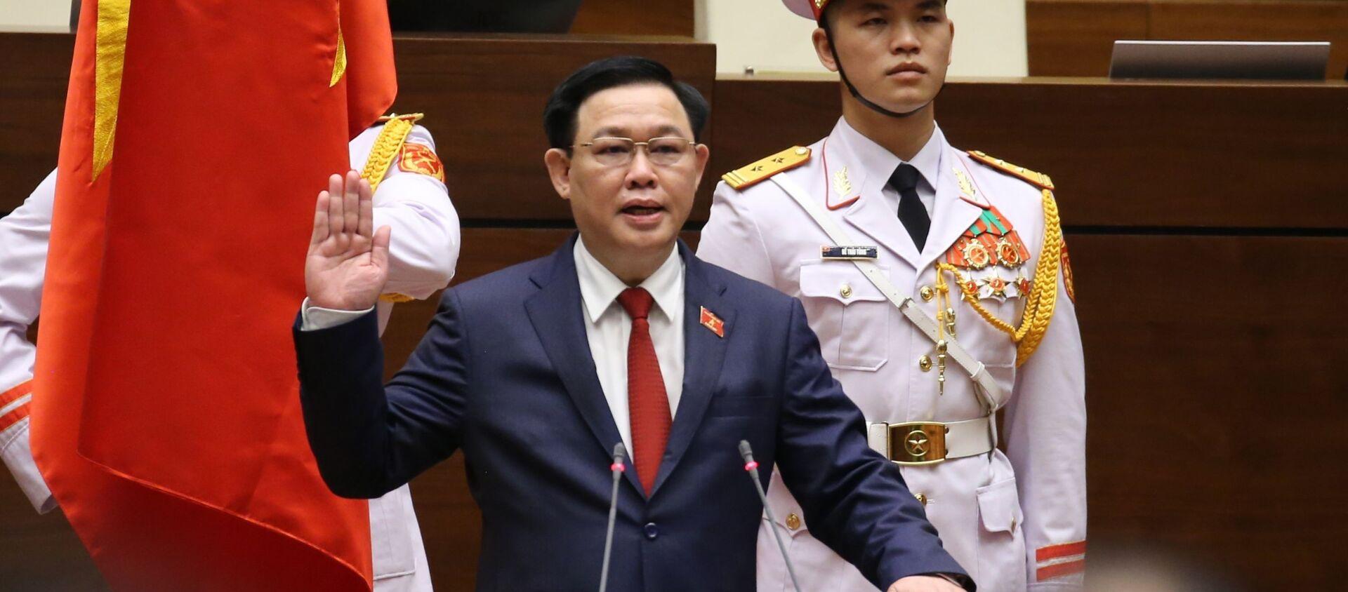 Chủ tịch Quốc hội Vương Đình Huệ tuyên thệ. - Sputnik Việt Nam, 1920, 31.03.2021