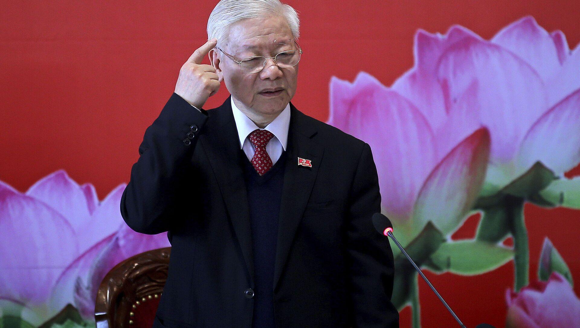 Tổng Bí thư, Chủ tịch nước Nguyễn Phú Trọng. - Sputnik Việt Nam, 1920, 09.04.2021