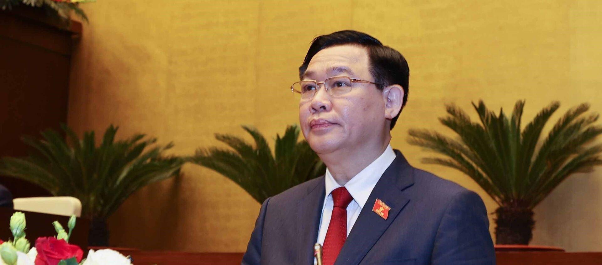 Chủ tịch Quốc hội Vương Đình Huệ phát biểu nhậm chức. - Sputnik Việt Nam, 1920, 31.03.2021