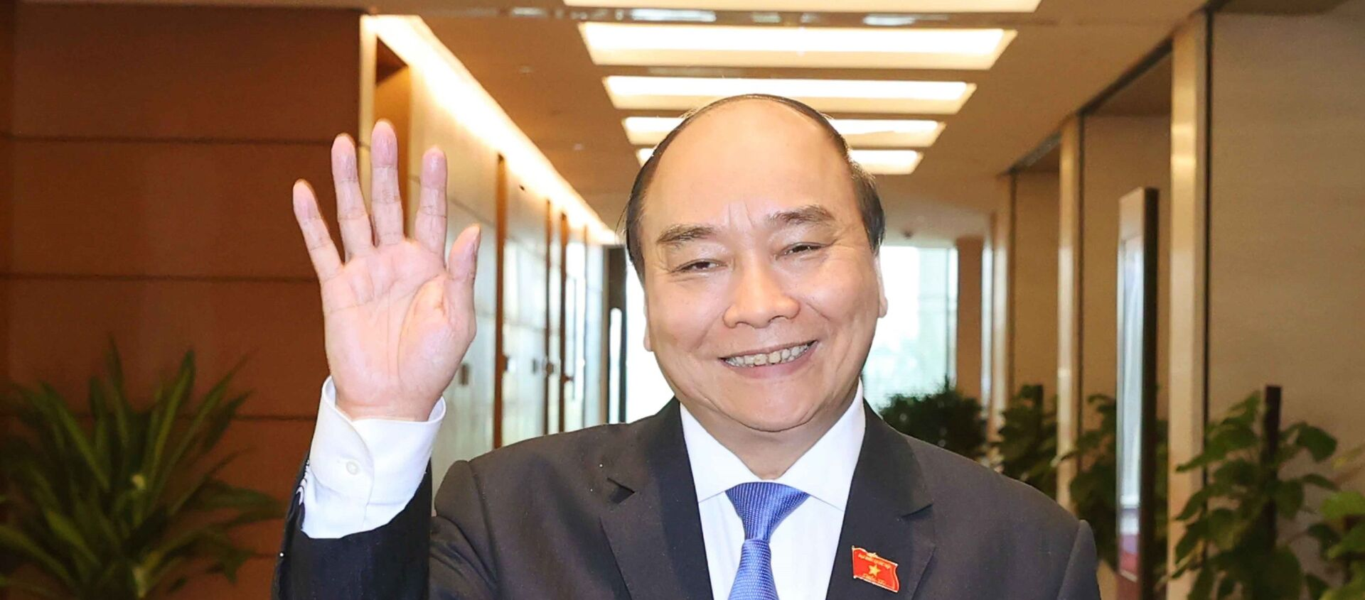 Thủ tướng Chính phủ Nguyễn Xuân Phúc tại Nhà Quốc hội chiều 1/4. - Sputnik Việt Nam, 1920, 05.04.2021