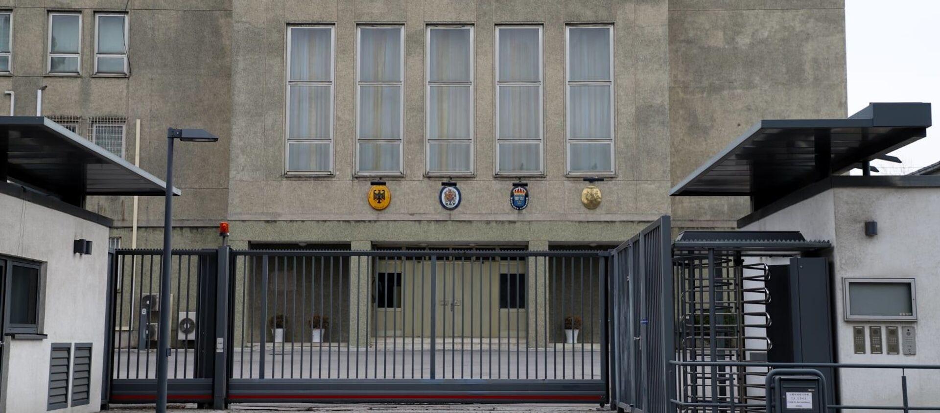 Tòa nhà cơ quan đại diện ngoại giao của Anh, Đức, Pháp và Thụy Điển tại CHDCND Triều Tiên. - Sputnik Việt Nam, 1920, 02.04.2021