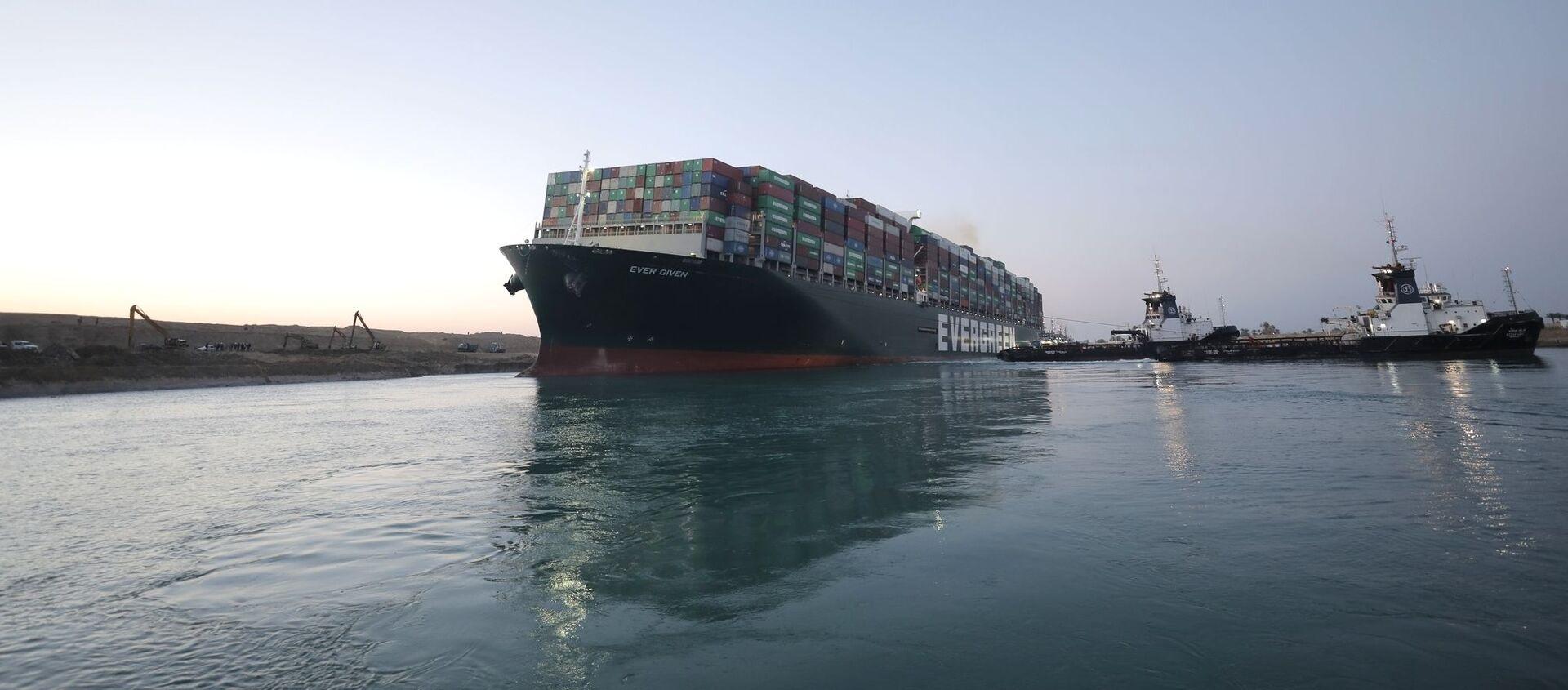 Tàu container từng được đưa vào kênh đào Suez - Sputnik Việt Nam, 1920, 03.04.2021