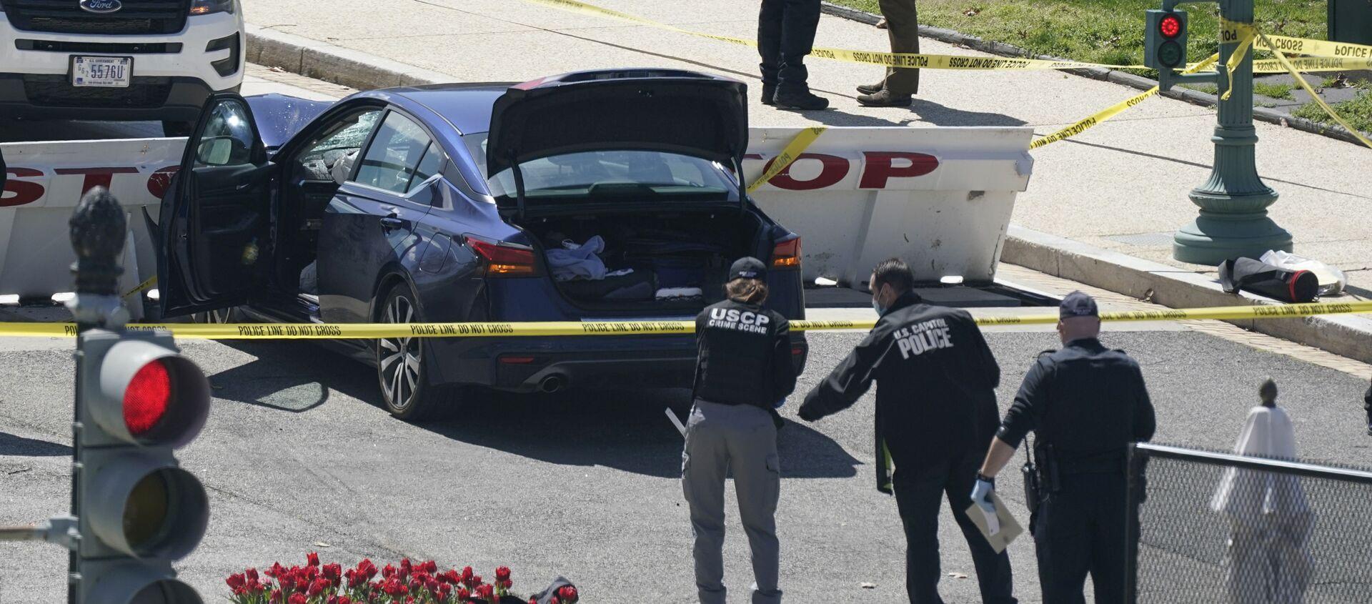Người đàn ông đâm xe vào nhân viên an ninh bảo vệ Quốc hội Hoa Kỳ gần một trạm kiểm soát. - Sputnik Việt Nam, 1920, 03.04.2021