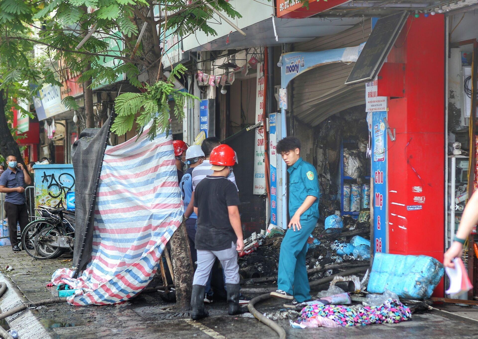 Vụ cháy cửa hàng ở Hà Nội: 3 người và 1 thai phụ thiệt mạng - Sputnik Việt Nam, 1920, 04.04.2021