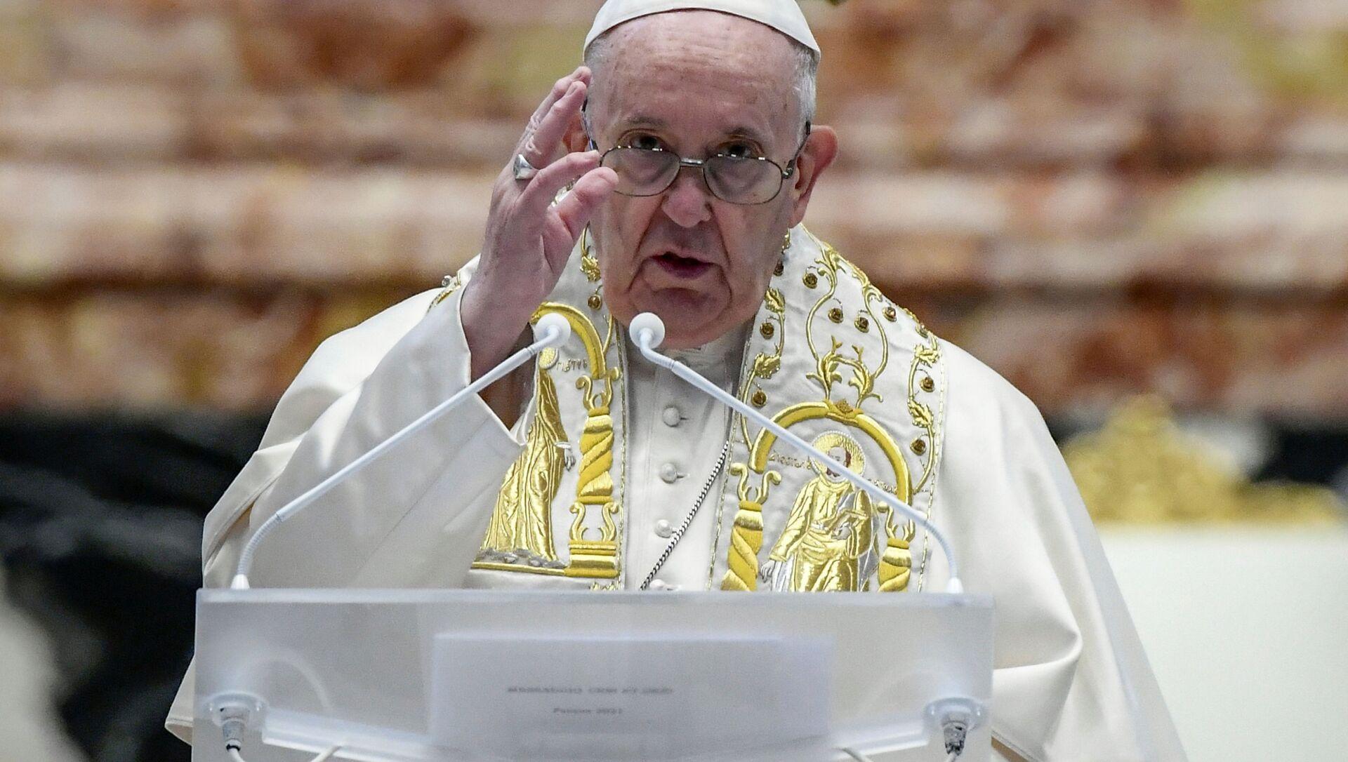 Đức Giáo hoàng Francis cử hành Thánh lễ Phục sinh tại Vatican. - Sputnik Việt Nam, 1920, 23.08.2021