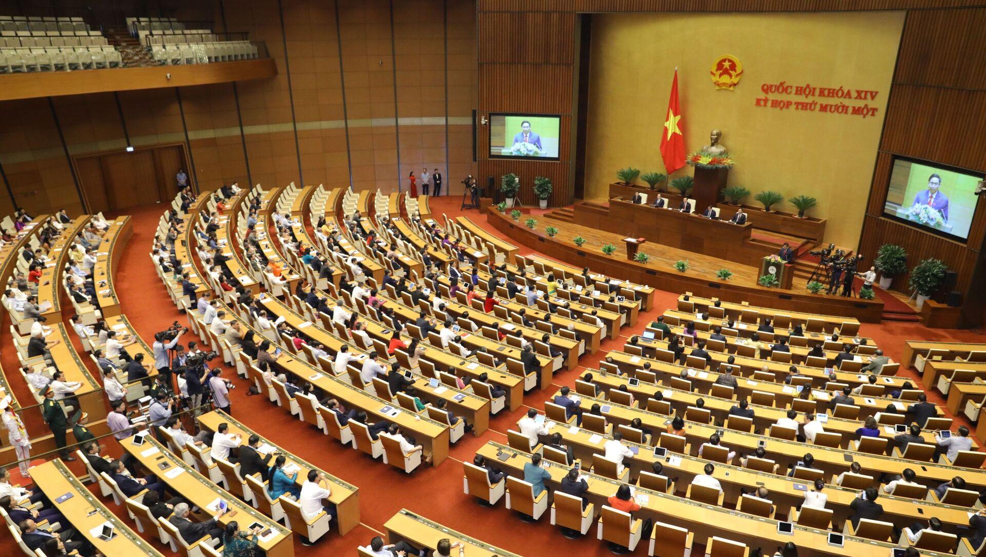 Quốc hội nghe Thủ tướng Chính phủ Phạm Minh Chính phát biểu nhậm chức. - Sputnik Việt Nam, 1920, 21.04.2021