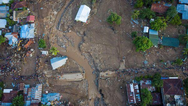 Hậu quả của trận bão nhiệt đới ở tỉnh Đông Nusa Tenggara thuộc Indonesia - Sputnik Việt Nam