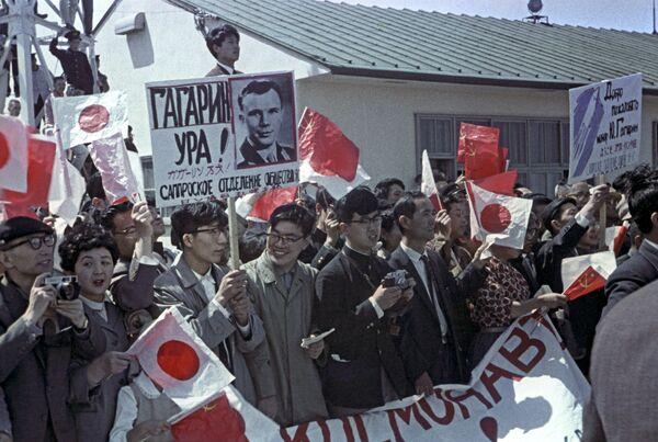 Chuyến thăm của phi công vũ trụ, anh hùng của Liên Xô Yuri Gagarin đến Nhật Bản, 1962 - Sputnik Việt Nam